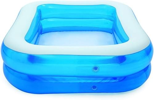 Bestway Family Pool, pool rectangular for children, easy to assemble, blue,
