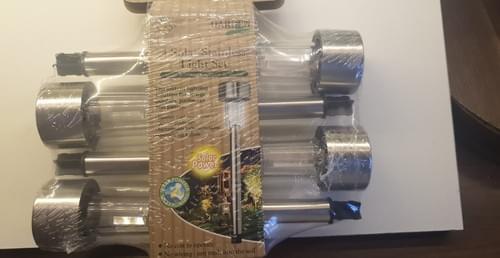 4 Pack Stainless solar lights