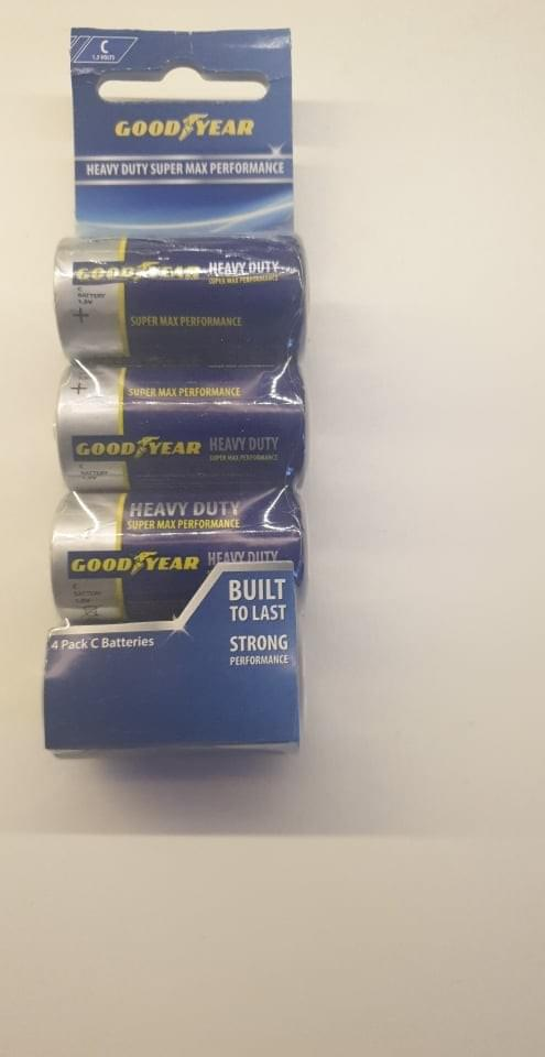 Goodyear 4 pack C Batteries