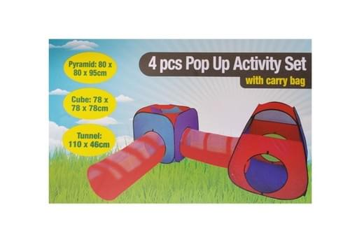 4 Piece Pop Up Tent and Tunnel