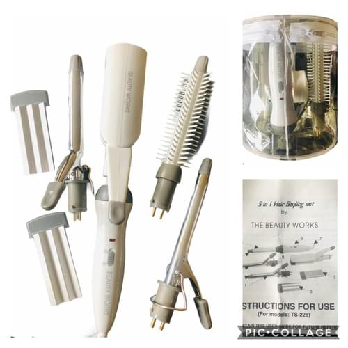 5 In 1 Hair styling set by the beauty works
