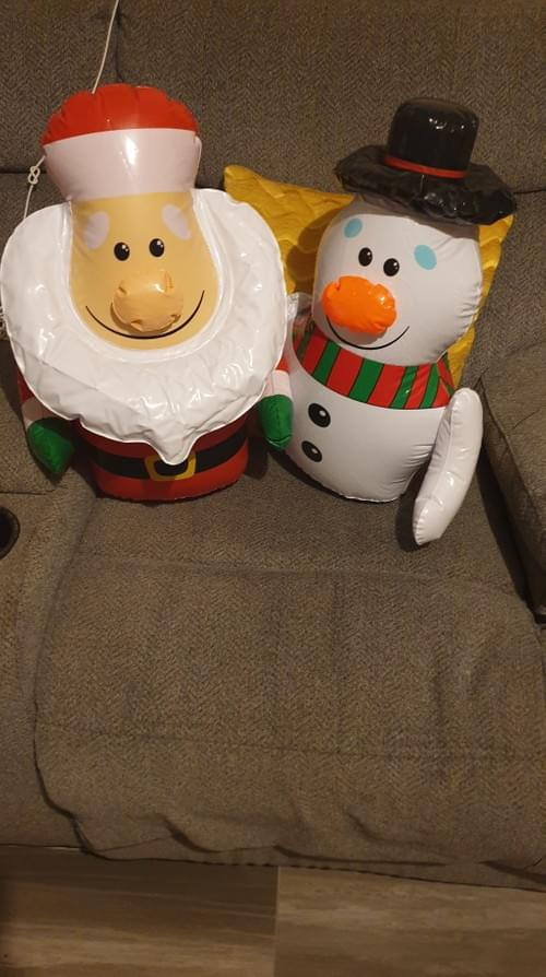 Inflatable Santa/snowman