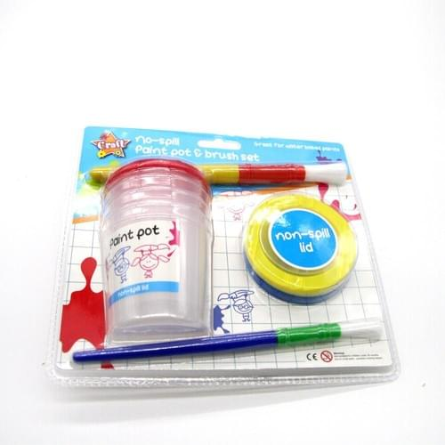 Kids plastic brush washer painting cleaning cups paint brush spill proof paint washing