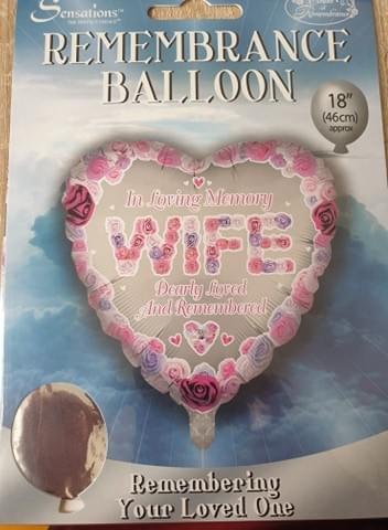 """Sensations Remembrance Foil Balloon Foil 18"""" remembrance balloons 11 different Memorial balloons"""