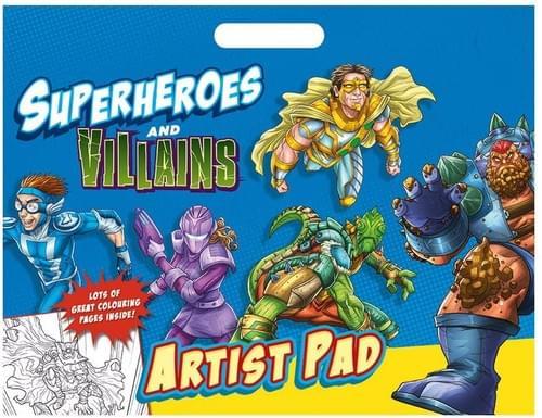 Superheroes Artist Pad