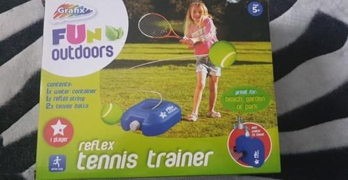 Grafix Kids Fun Outdoors Reflex Tennis Trainer Practice Tool-Garden/Beach-GC