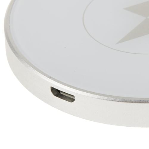 Wireless Charger T400-C Qi Enabled Inductive Charging Pad Ring-shaped Station Aluminum Portable Mini