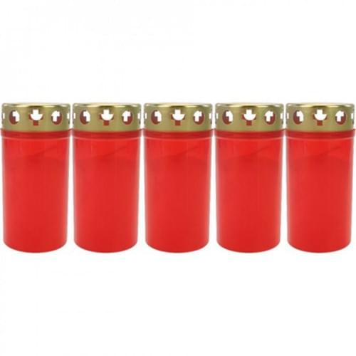 Memorial Red Candle 5.5 Inch