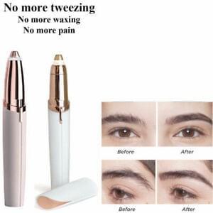 Women's Battery Hair Remover Face Eyebrow Trimmer Brows Razor