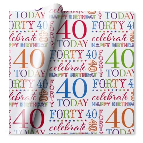 40th Celebration Wrapping Paper