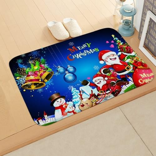 Christmas New Year Holiday Elk Floor Mat Door Mat for Home Bedroom Bathroom , Non-slip