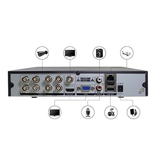 8CH 5MP 6 in 1 1080N TVI CVI AHD IP CVBS DVR HD CCTV 5 in 1 AHD DVR