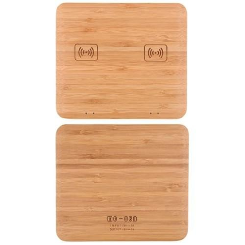 2 phone at same time charger bamboo dual QI wireless charger