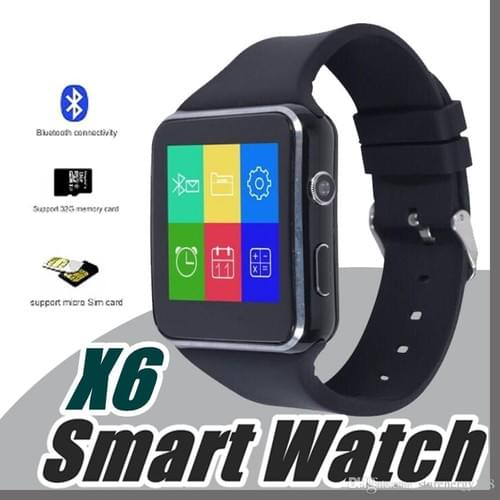 NEW Sport Fitness Tracker Watch X6 Smart Watch Men Women Support SIM TF Card Camera Pedometer Smartw