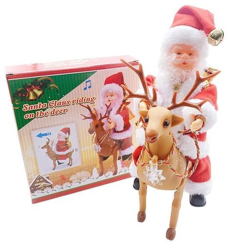 Santa On Reindeer Santa On Drums