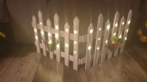 White Christmas Picket fence