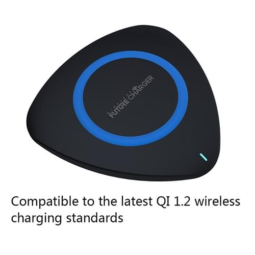 PD02 Triangle Shape Qi Wireless Charging Pad for Samsung Note 8/S8/S8 Plus etc.