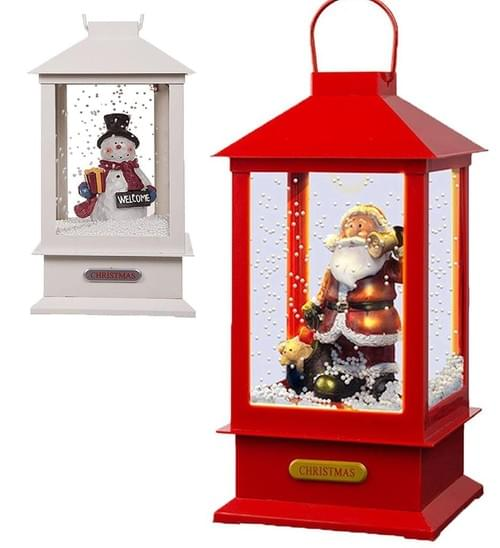 Christmas Lantern with 8 Songs, Light and Snow