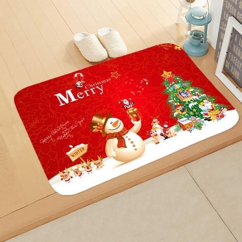 Christmas New Year Holiday Elk Floor Mat Door Mat for Home Bedroom Bathroom , Non-slip