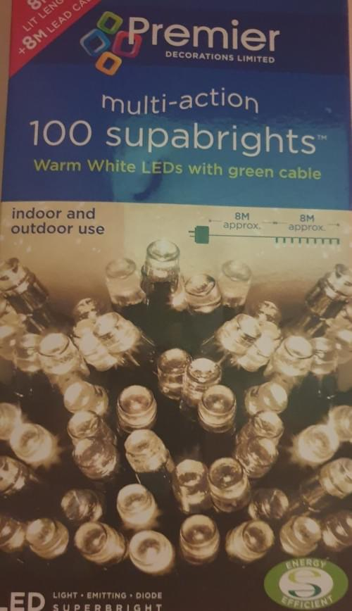 100 White Led Lights