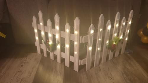 White Christmas Picket fence