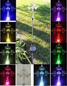 Solar Garden Memorial Cross Lights