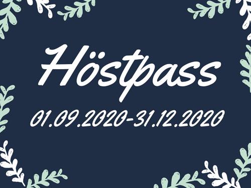 Höstpass 01.09-31.12.2020