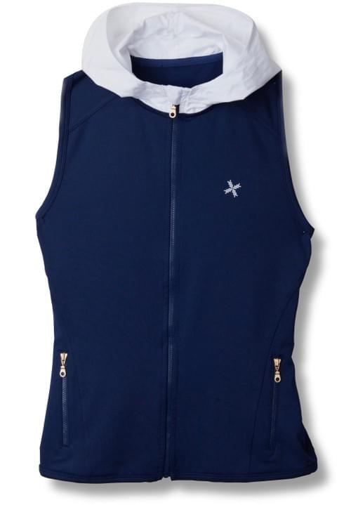 Mixed Hoodie Vest 極光白背心外套
