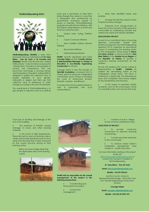 Donate to Build School for kids in Ghana.