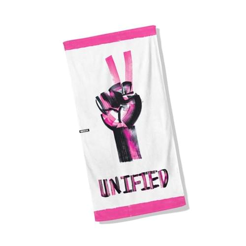 UNIFIED - Julian Williams signature towel. Art by Quincy Sutton.