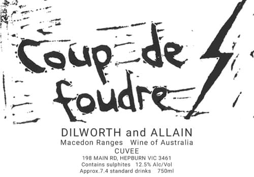 Coup de Foudre Pinot Noir Chardonnay Blend = Light Red from the Macedon Ranges