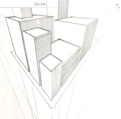 Perspective Applied en Plein Air with Charlotte Hird Sat 8th & Sun 9th August, 9.30am to 5pm