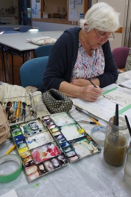WED NIGHT 22 July to 9 Sep 7-9pm Keen Beginners in Watercolour - Robyn