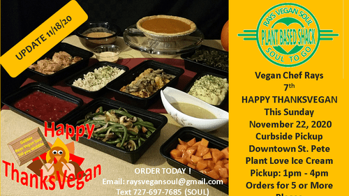 Rays Vegan Soul PlantbasedShack Happy Thanksvegan 2020 Special