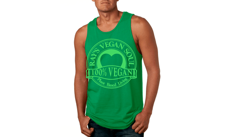 Rays Vegan Soul Plantbased Living Neon Green Letters Tank 5 Colors