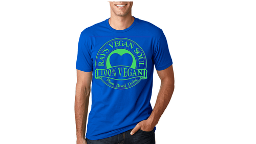 Rays Vegan Soul Plantbased Living Neon Green Letters Unisex Tshirt 7 Colors