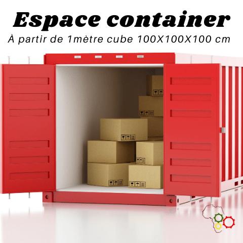 Espace container 1M3 ( 100 X 100 X 100 CM)