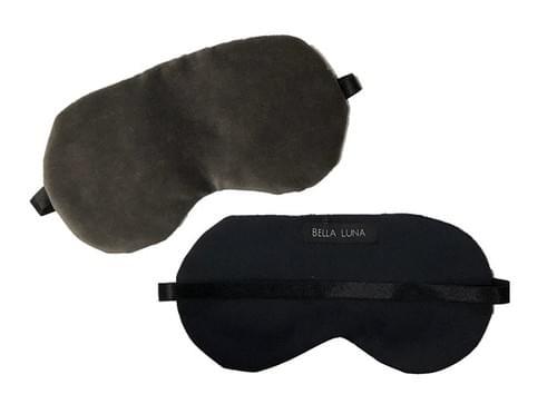 Grey Velvet Sleep Mask