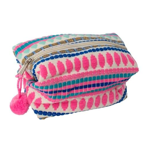 Happy Travels Pompom Pouch