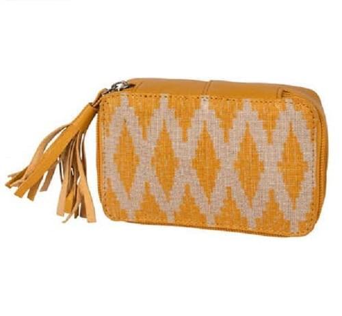 Yellow Ikat Drop in Bag