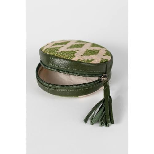 Green Ikat Drop In Bag
