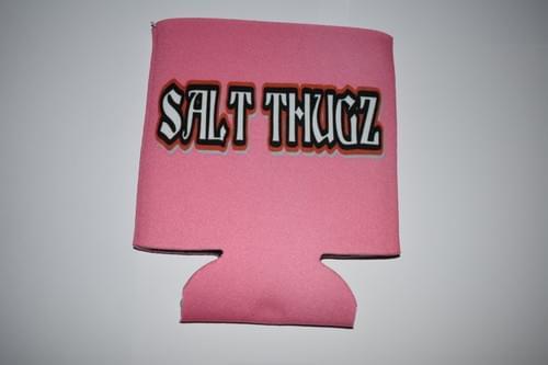 Hot pink neoprene Salt Thugz koozie