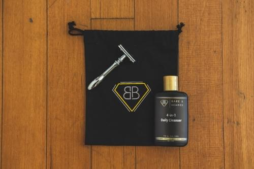 Bare & Beards Men's Skincare  & Shave Kit