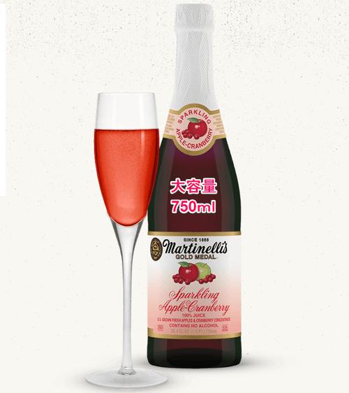 クランベリー&アップル 大容量!パーティーサイズの果汁100%炭酸スパーリングジュース(750ml) sparkling juice