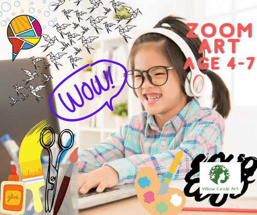 Zoom Art Class Ages 4-7, 1 month - January 2021