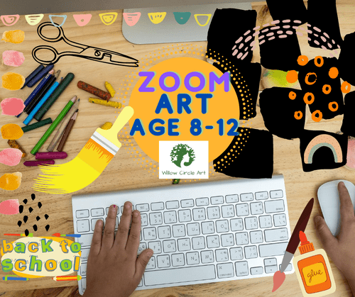 Zoom Art Class Ages 8-12, 1 month - January 2021