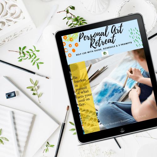 Self Led Personal Art Retreat: Relax, Repair, Renew (Instant Download)