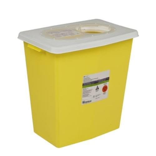 8934 - 12 GAL Yellow Sharps Container - W/Rotor-Split Lid