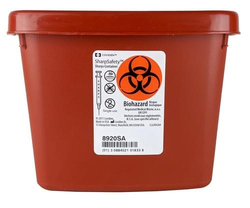 8920SA - 1/2 GAL Red Sharps Container