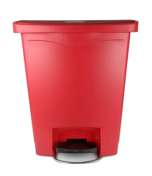 6144 - 12 GAL Red Step-on Container